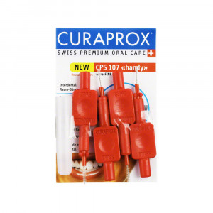 CURAPROX Prime Handy CPS 07 Межзубные ёршики 4шт. на держателях +  защитный колпачок