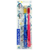 CURAPROX 5460 Ultra Soft Набор ультра мягких зубных щеток 3шт. (12)