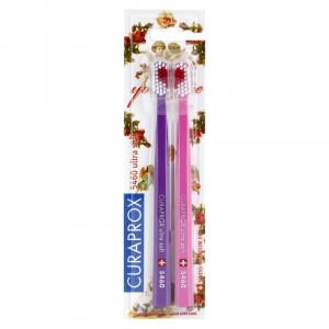 CURAPROX 5460 Ultra Soft With Love LE Набор ультра мягких зубных щеток 2шт.