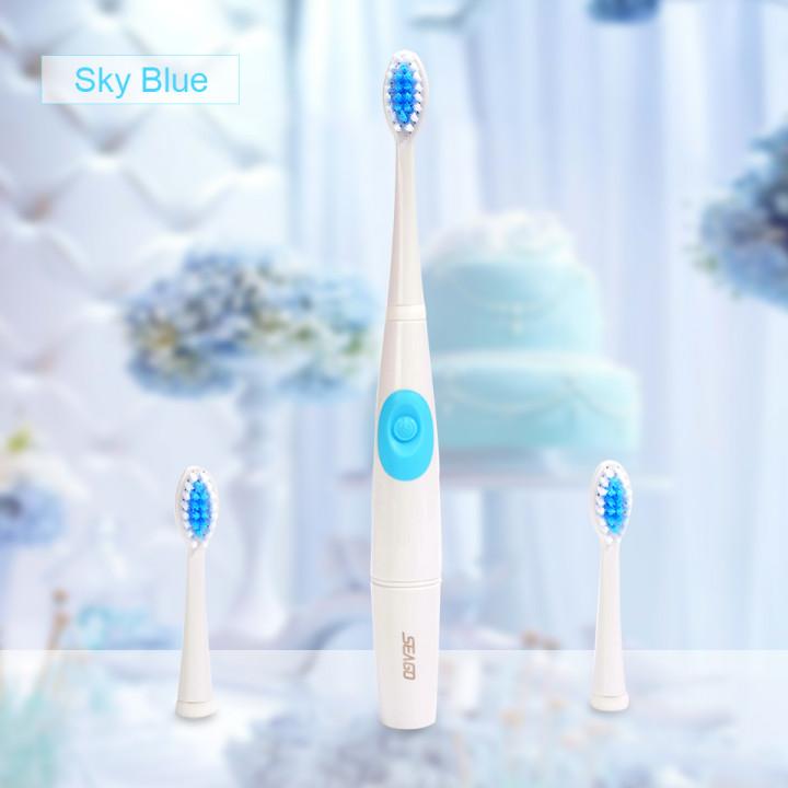 SEAGO ультразвуковая зубная щетка SG-915 голубая