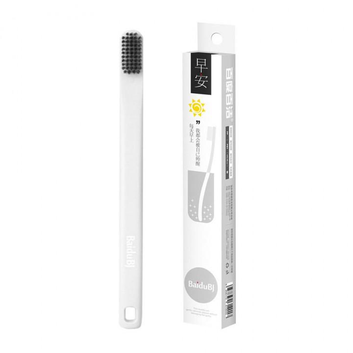 BaiduBJ зубная щетка мягкая отбеливающая белая