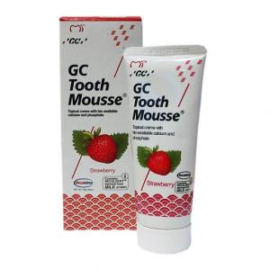 GC Tooth Mousse Strawberry гель для укрепления эмали без фтора, 35 мл