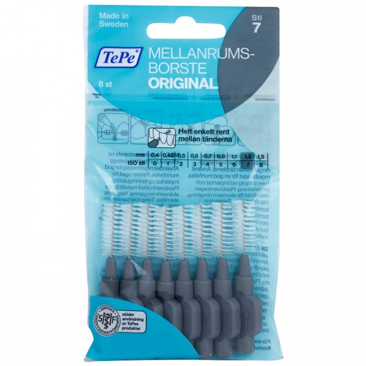 TEPE Interdental Brush Original 1,3 мм межзубные ершики 8 шт