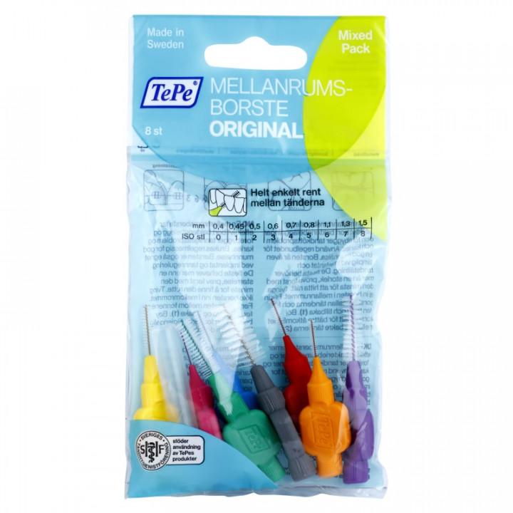 TEPE Interdental Brush Original Mixed межзубные ершики 8 шт