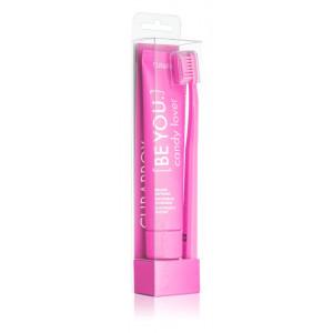 Curaprox Be You Candy Lover Зубная паста 90 мл + розовая зубная щетка Ультра мягкая 5460