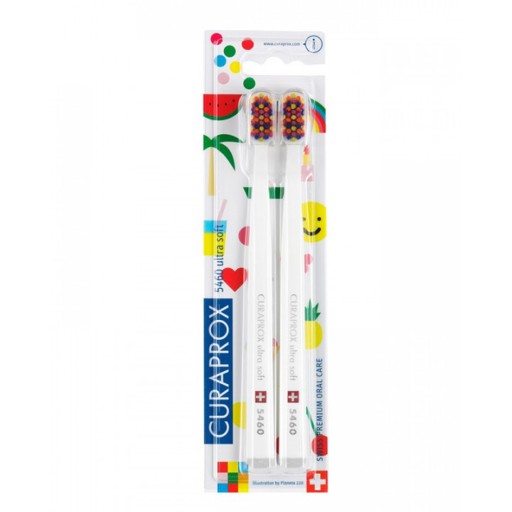 CURAPROX 5460 POP ART LE Набор ультра мягких зубных щеток 2шт.