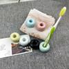Azdent керамическая подставка для зубных щеток желтая