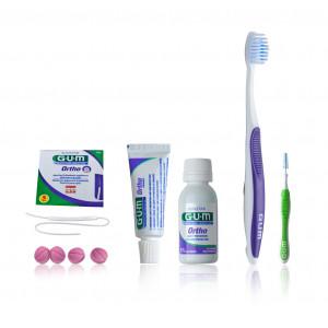 GUM SUNSTAR ORTHO-KIT ортодонтический набор, содержащий мини-средства по уходу за полостью рта