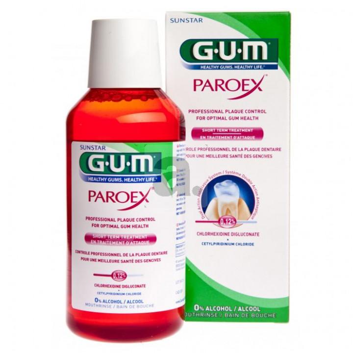 GUM PAROEX 0,12%  жидкость для кратковременной терапии с хлоргексидином 300мл