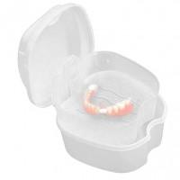 Контейнер для хранения ортодонтических конструкций и съемных зубных протезов, белый