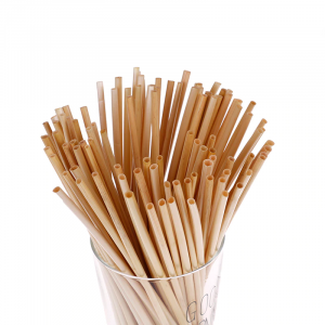 Трубочки для напитков из экологически чистой соломы (14 см) 250 шт.