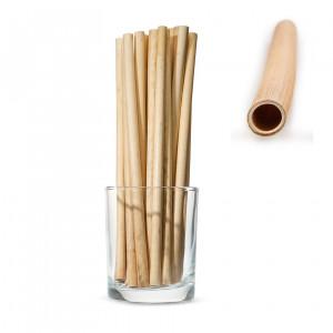 Трубочки LARGE для напитков из камыша, длинные 20см (50 шт.)