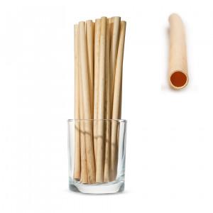 Трубочки для напитков из камыша, длинные 20см MEDIUM (50 шт.)