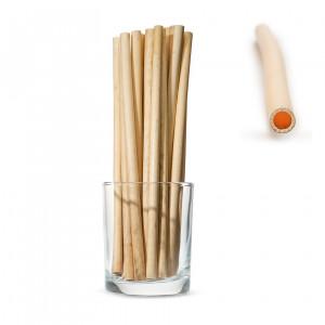 Трубочки SMALL для напитков из камыша, длинные 20см (50 шт.)