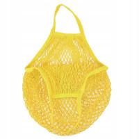 Эко-сумка из сетки Авоська, Желтая