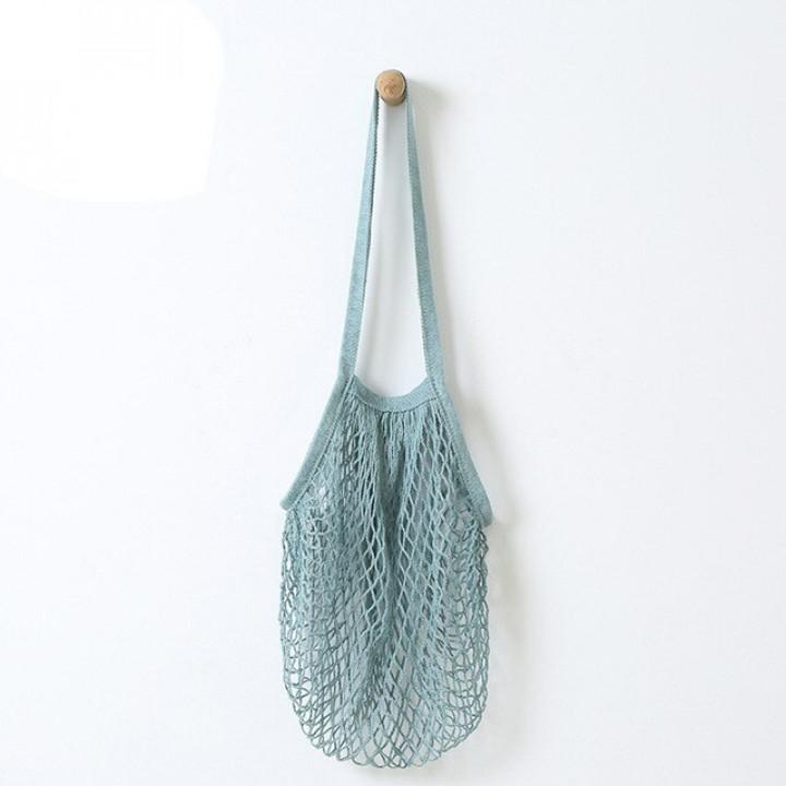 Эко-сумка из сетки Авоська, Голубая
