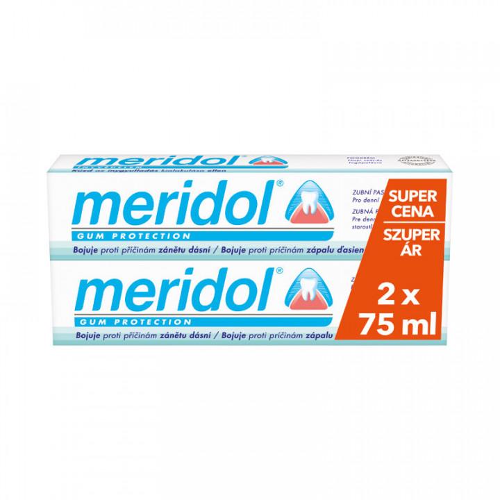 MERIDOL Dental Care зубная паста для защиты десен и борьбы с кариесом 2x75ml