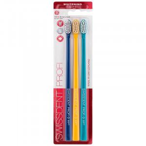 SWISSDENT Whitening Trio зубная щетка отбеливающая мягкая 3шт. (01)