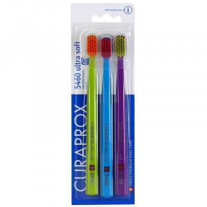 CURAPROX 5460 Ultra Soft Набор ультра мягких зубных щеток 3шт. (07)